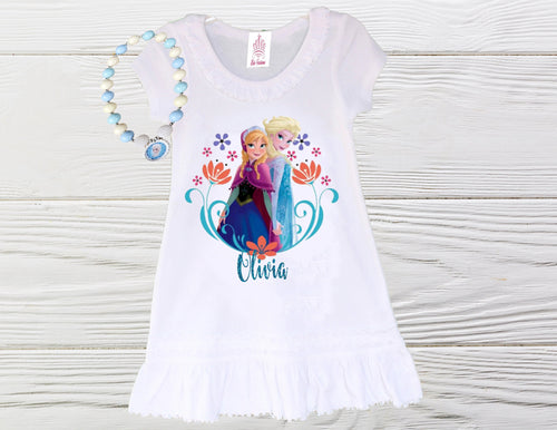 Frozen birthday dress - Elsa Anna pullover dress - Elsa Anna girls dress - Little girls dress - Girls dress - Birthday dress