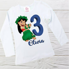 Load image into Gallery viewer, Lilo and Stitch birthday outfit - Disney Lilo Stitch toddler outfit - Girls Lilo clothing set - Lilo first birthday outfit - Lilo dress -
