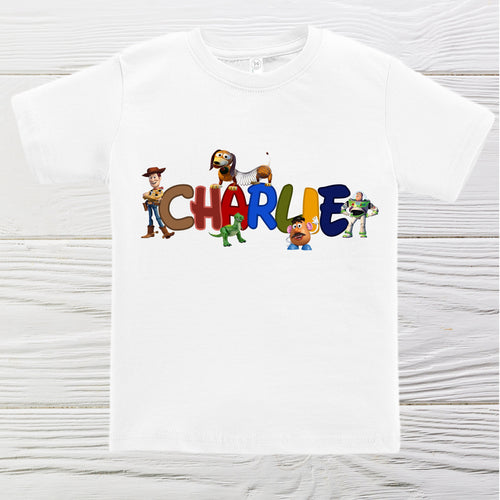 Toy Story Woody and friends boys birthday shirt - Personalized boys shirt -Boys first name Toy Story shirts