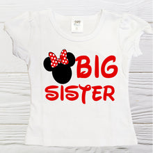 Load image into Gallery viewer, Minnie Big Sister shirt  - Girl Minnie shirt  Disney Minnie Big Sister Shirt - Graphic shirts - Girls Minnie shirts