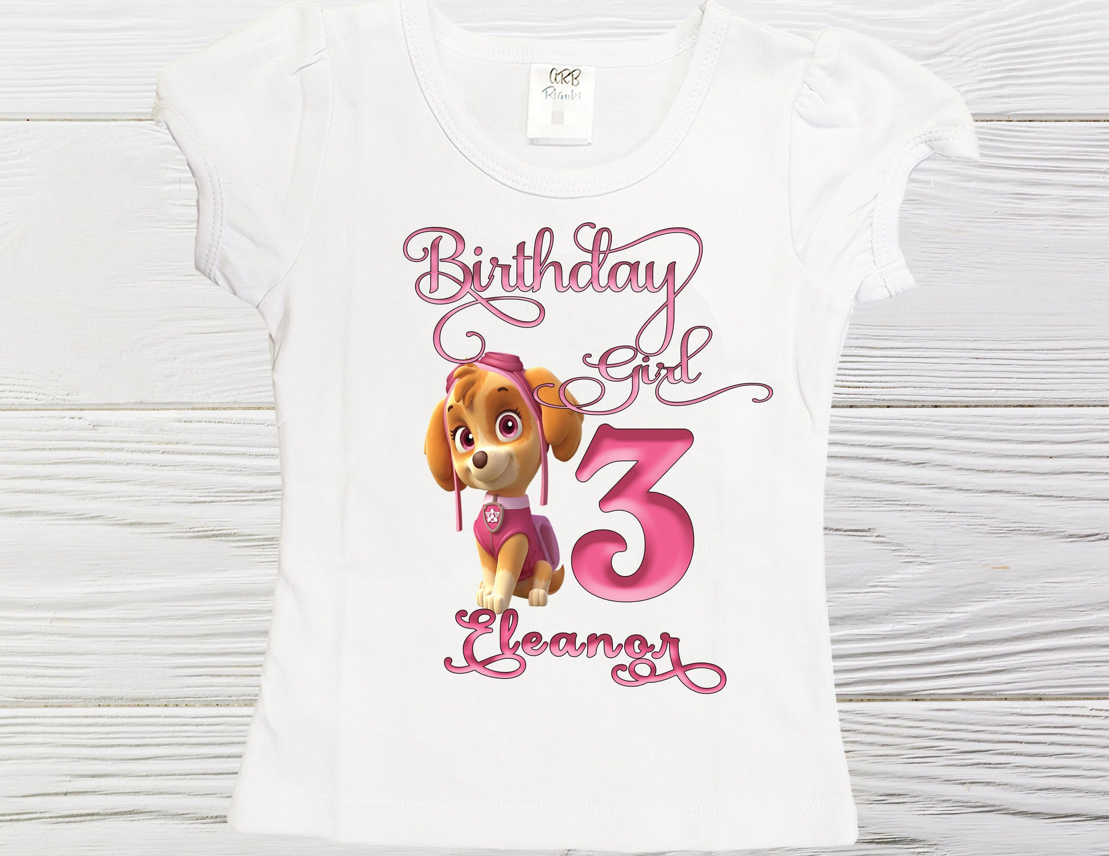 Paw Patrol birthday shirt  - Girls birthday shirt - Skye shirt - Personalized Skye birthday shirt - Toddler Skye shirt - Birthday Skye shirt