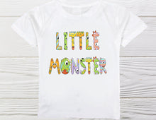 Load image into Gallery viewer, Little Monster Boys shirt -  Monster Boys  shirt - Toddler Monster shirt - Custom shirts - Graphic shirts - Boys shirts