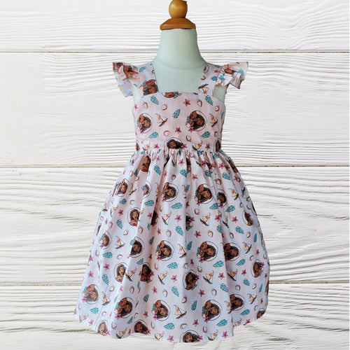 Moana birthday dress -  Baby Moana Dress - Disney Moana girls dress - Girl Dress - Toddler Moana Dress - Moana first birthday dress