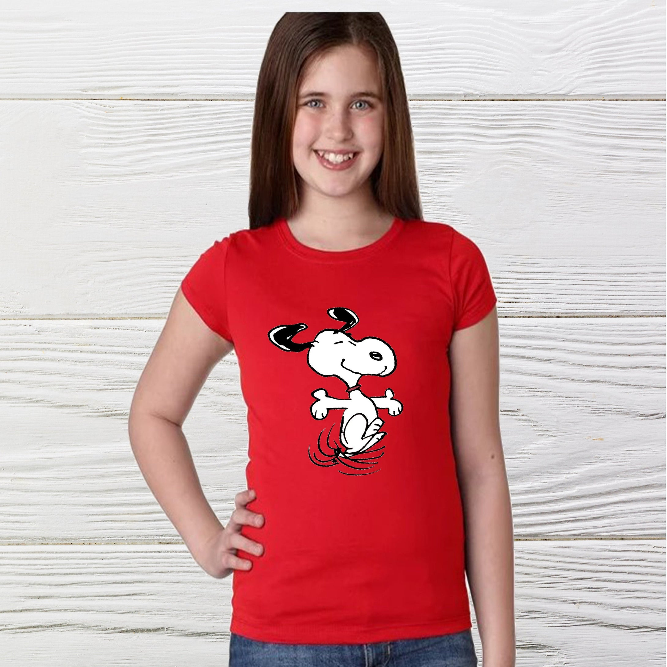 Happy Snoopy Girls Shirt