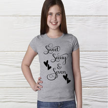 Load image into Gallery viewer, Sassy girls shirt - Birthday girls shirts - Sweet and Sassy  Shirts - Graphic shirts - Customs shirts -