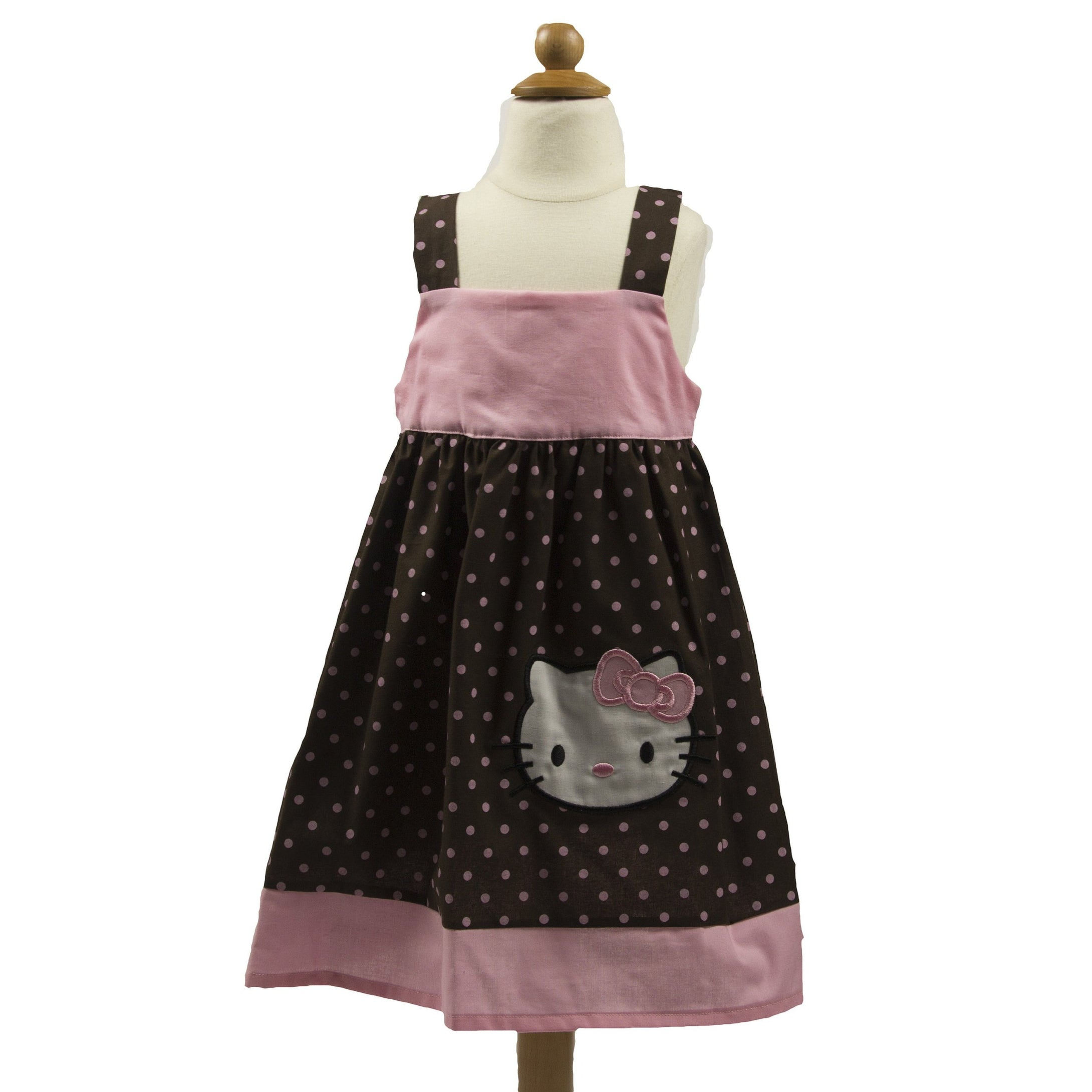 KITTY BIRTHDAY DRESS - Hello girls  birthday dress - Hello summer dress -  toddler birthday dress - kitty  dress