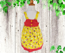 Load image into Gallery viewer, KADYBUG BIRTHDAY DRESS - Jumper dress - Toddler  birthday dress - Girls clothes - Dresses