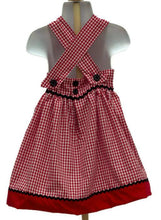 Load image into Gallery viewer, LADYBUG BIRTHDAY DRESS  Ladybug Girl dress Ladybug red gingham dress