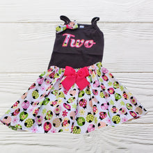 Load image into Gallery viewer, LADYBUG BIRTHDAY OUTFIT - Baby First Birthday - Age Baby Dress - Ladybug  Birthday Dress - Birthday Outfit - Girls clothes set
