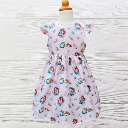 LITTLE MERMAID DRESS  - Mermaid Birthday Dress - Ariel Party dress  - 1st Birthday dress - Toddler Mermaid dress - Ariel Birthday dress -