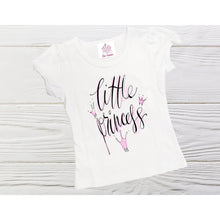 Load image into Gallery viewer, Little Princess shirt Girl Princess shirt Personalized  birthday shirt