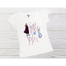 Load image into Gallery viewer, Little sister shirt Frozen Anna personalized shirt custom sister shirts