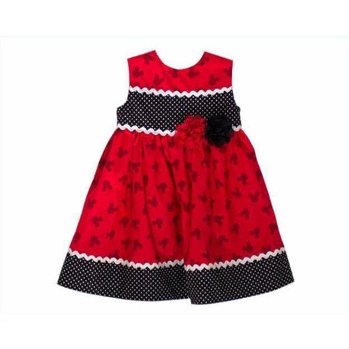 MICKEY PRINT DRESS  Mickey Mouse girl dress Black and Red Mickey dress
