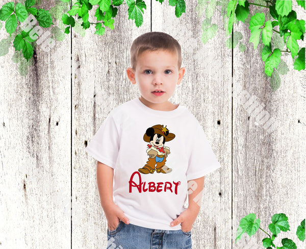 Mickey shirt Boys Cowboy Mickey shirt Boys Mickey birthday shirt Boys Disney shirt