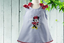 Load image into Gallery viewer, MINNIE BIRTHDAY DRESS - Minnie Mouse birthday dress - Personalized dress -Toddler Dress