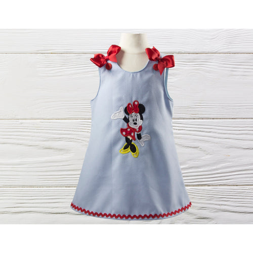 MINNIE BIRTHDAY DRESS - Minnie Mouse birthday dress - Personalized dress -Toddler Dress