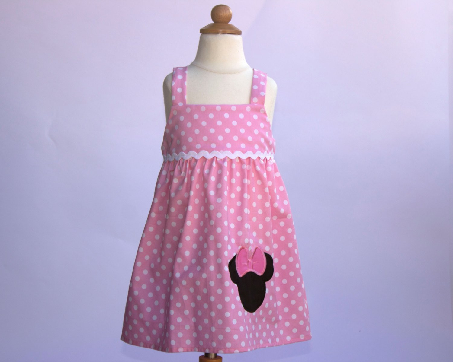 MINNIE BIRTHDAY DRESS Pink Polka dots Minnie  dress Girls dress Tank top dress