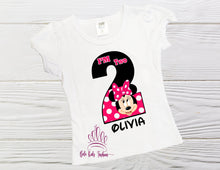 Load image into Gallery viewer, MINNIE BIRTHDAY SHIRT,  Minnie number birthday shirt personalized shirt