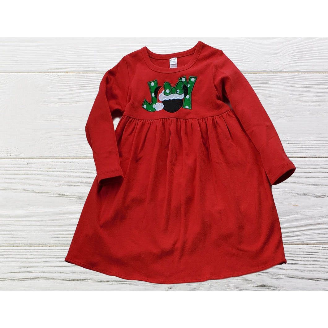 MINNIE CHRISTMAS DRESS  Christmas Empire dress Long Sleeve Christmas dress