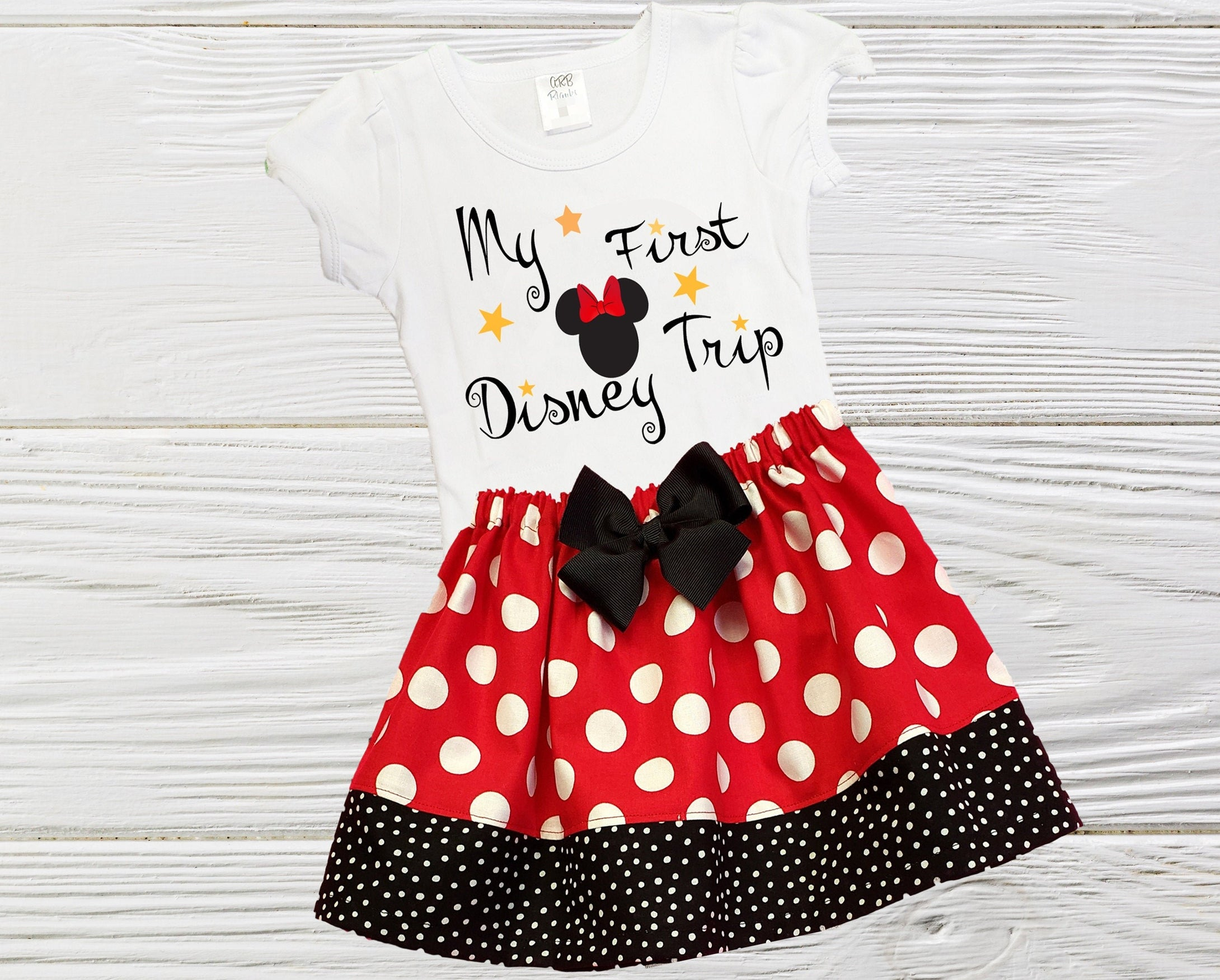 Minnie First Trip Girls Minnie outfit My first trip to Disney outfit Toddler Minnie Disney trip