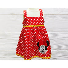 Load image into Gallery viewer, Minnie inspired birthday dress Red Minnie dress Toddler birthday Minnie dress
