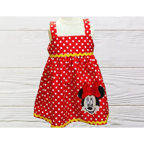 Minnie inspired birthday dress Red Minnie dress Toddler birthday Minnie dress