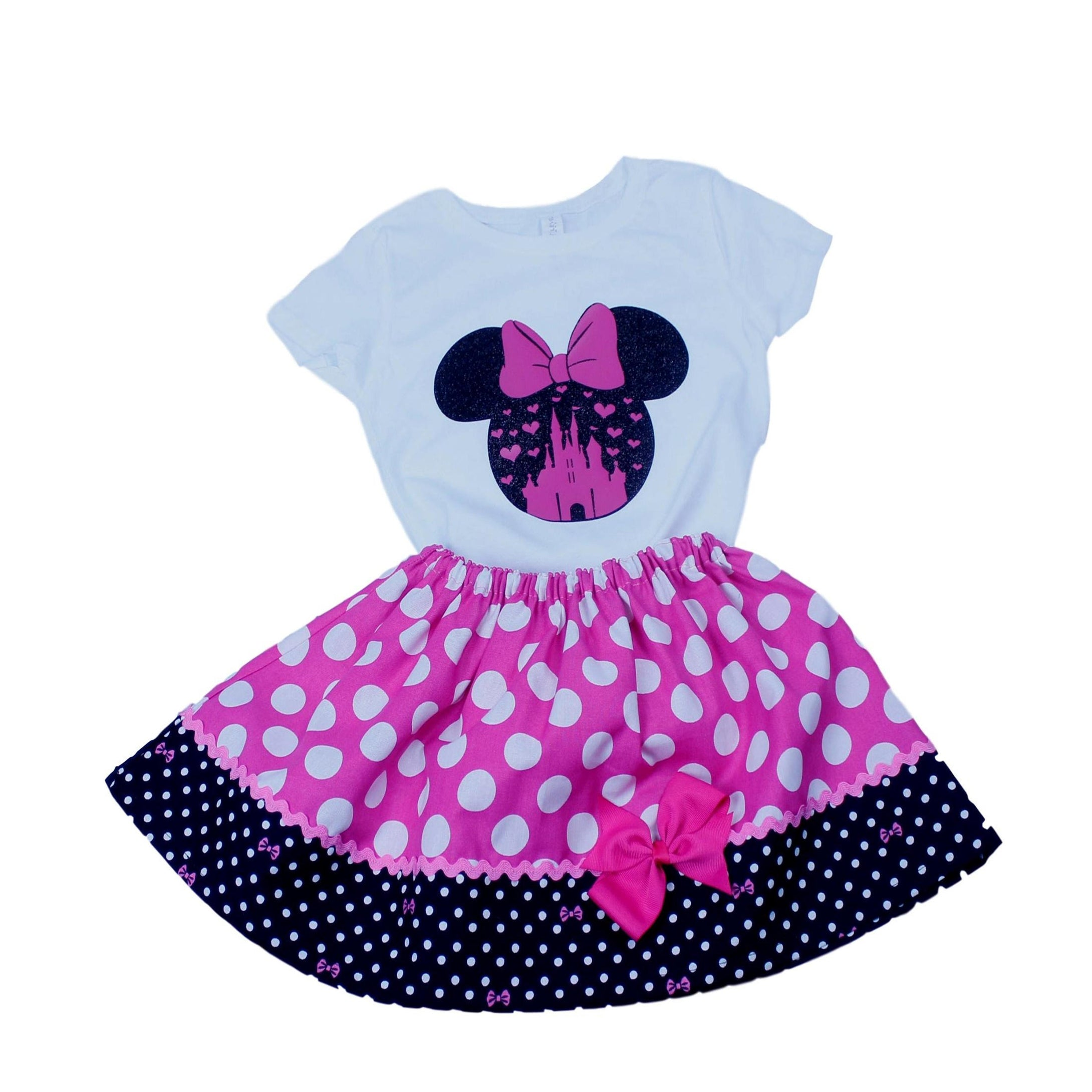 Minnie Mouse birthday outfit Minnie baby dress. Toddler  Minnie outfit Minnie shirt skirt First trip to Disney outfit