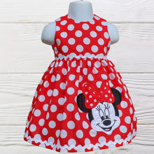 Load image into Gallery viewer, MINNIE MOUSE DRESS - Minnie dress - Minnie Birthday Dress - 1st Birthday Dress - Polka dots Minnie dress -Toddler dress - Minnie girl dress