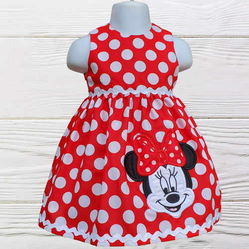 MINNIE MOUSE DRESS - Minnie dress - Minnie Birthday Dress - 1st Birthday Dress - Polka dots Minnie dress -Toddler dress - Minnie girl dress