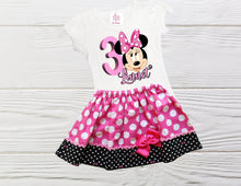 Load image into Gallery viewer, MINNIE MOUSE DRESS - Minnie Mouse Dress - Girl Toddler Clothes - Girl Toddler Clothes - Minnie Baby Outfit - Polka Dot Dress