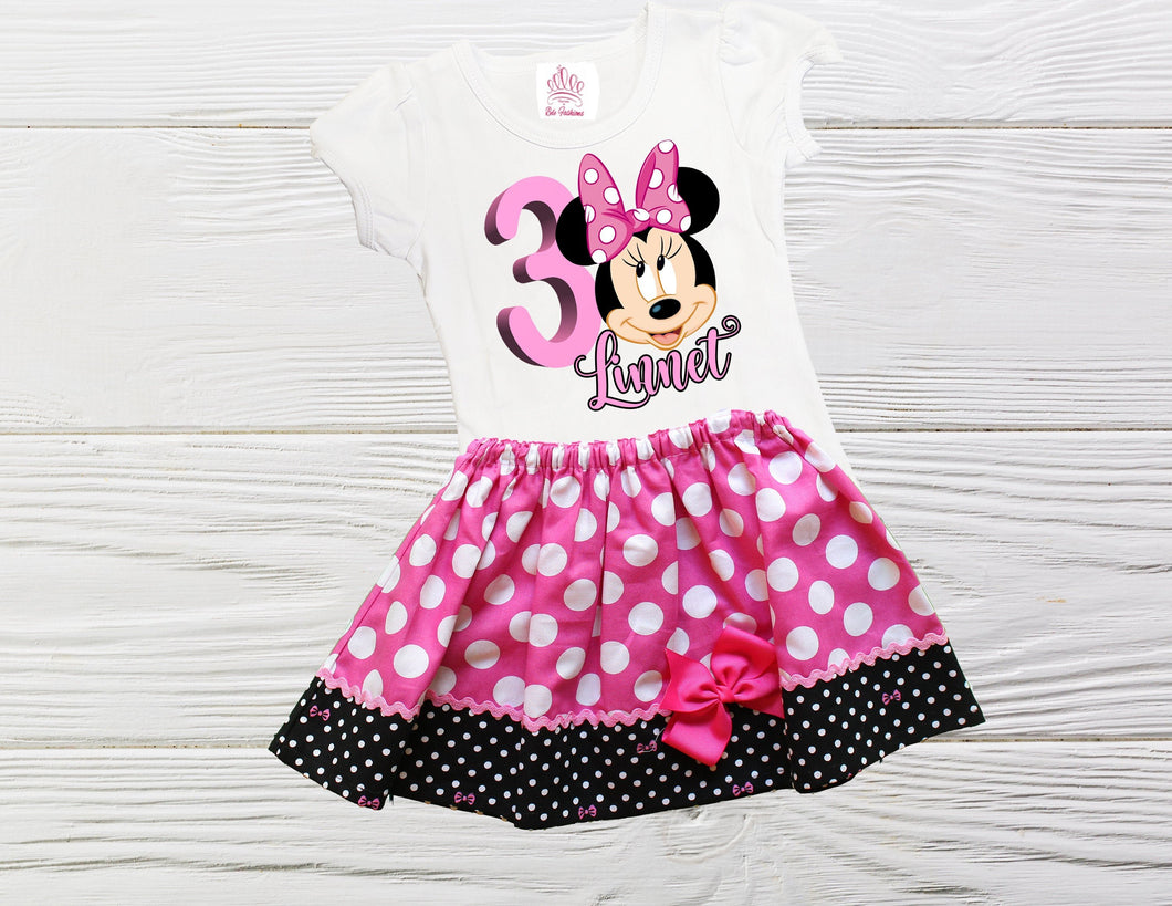 MINNIE MOUSE DRESS - Minnie Mouse Dress - Girl Toddler Clothes - Girl Toddler Clothes - Minnie Baby Outfit - Polka Dot Dress
