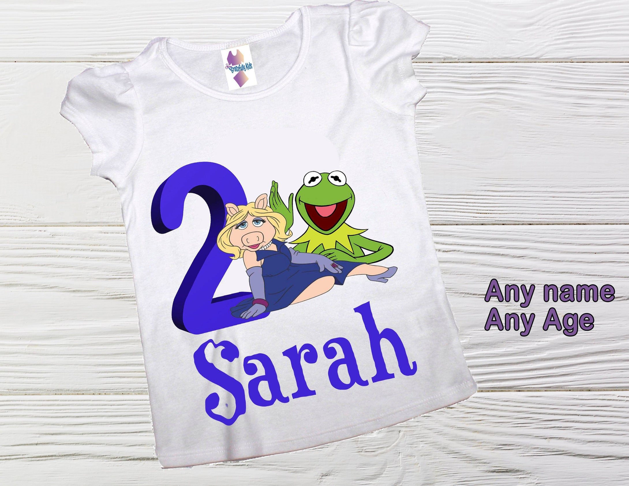 Miss Piggy and Kermit Muppets birthday shirt