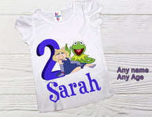 Load image into Gallery viewer, Miss Piggy and Kermit Muppets birthday shirt
