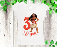 Load image into Gallery viewer, Moana birthday outfit  Moana dress Disney Moana dress Baby Toddler Moana birthday dress