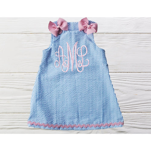 MONOGRAM  BABY DRESS - Little girl birthday dress - - Baby Girl Clothes - Infant Girl Dresses - Cute toddler Dress - Personalized Baby Dress