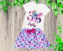 Load image into Gallery viewer, My Little Pony birthday outfit My Little Pony clothing set Birthday outfit Personalized outfit