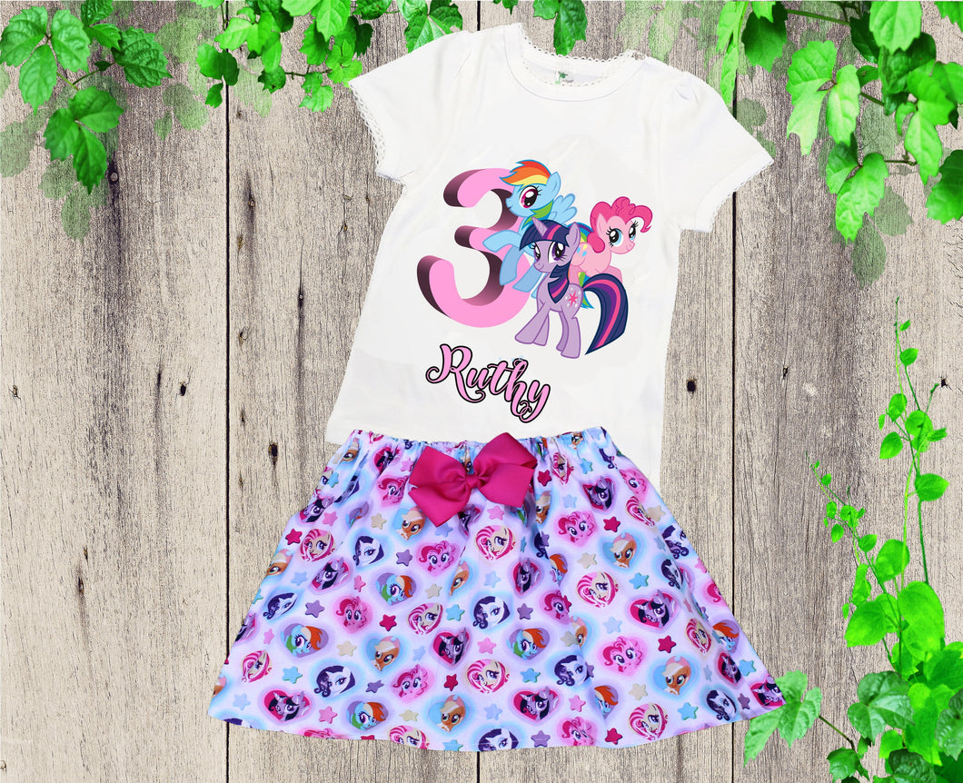My Little Pony birthday outfit My Little Pony clothing set Birthday outfit Personalized outfit