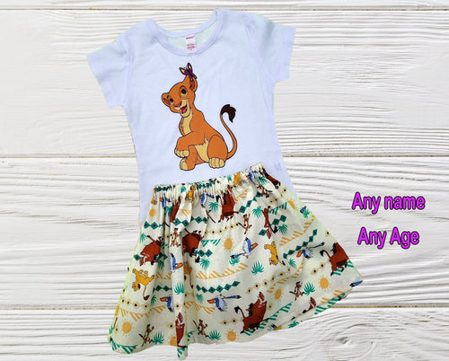NALA BIRTHDAY OUTFIT - Girls  Nala Lion King personalized outfit -  Birthday Nala  party outfit - Toddler Nala -Lion King dress