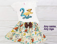 Load image into Gallery viewer, NALA BIRTHDAY OUTFIT  toddler outfit Girl Lion King Nala outfit Personalized outfit