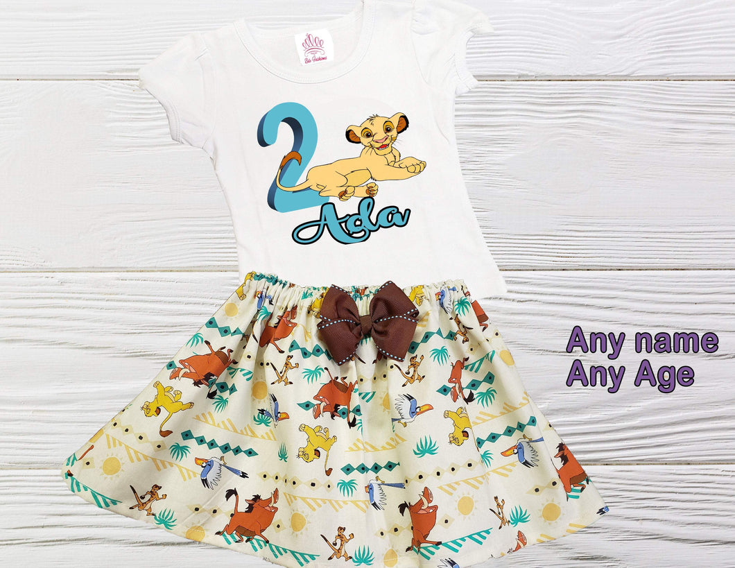 NALA BIRTHDAY OUTFIT  toddler outfit Girl Lion King Nala outfit Personalized outfit