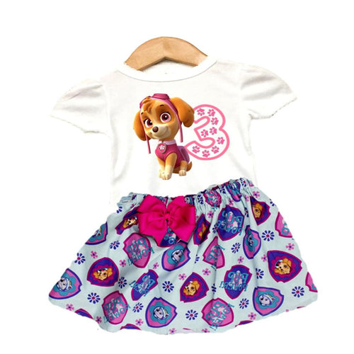 Paw Patrol birthday outfit, Skye dress Girl Skye personalized outfit Paw Patrol dress