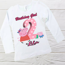 Load image into Gallery viewer, PEPPA PIG and GEORGE Birthday shirt Personalized shirt