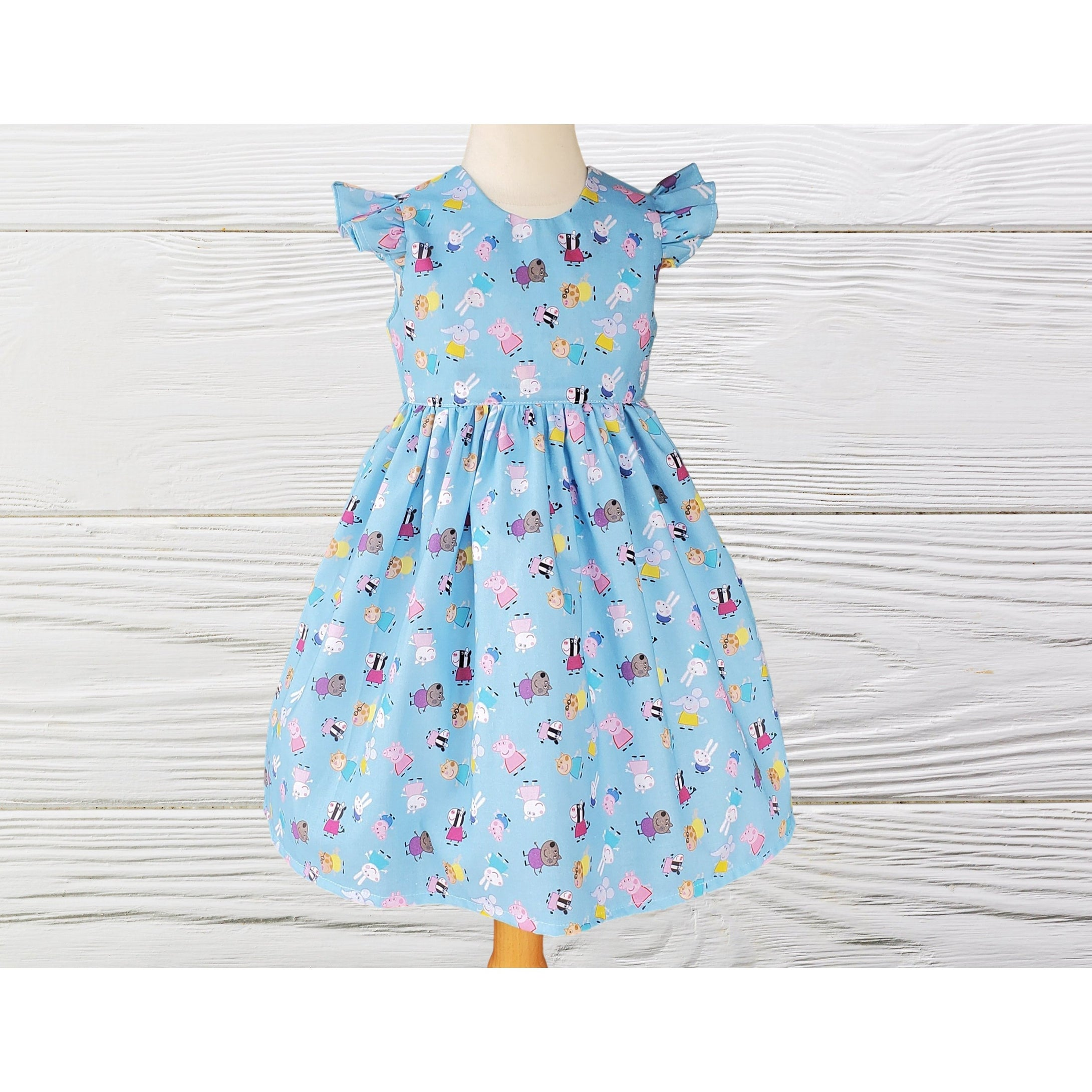 PEPPA PIG DRESS - Cute  dress - Girls Peppa Pig dress - Baby Party Dress - Girl Toddler Clothes -Peppa girls dress - Outfit For Baby Girl