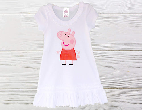 Peppa Pig dress  Peppa Pig birthday dress Peppa Long Sleeve  dress