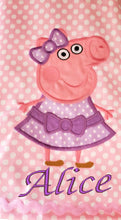 Load image into Gallery viewer, PEPPA PIG DRESS. Peppa Pig Girl birthday dress  Personalized Peppa  Pig birthday dress  first Birthday baby dress Toddler dress