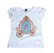 Load image into Gallery viewer, PERSONALIZED CARRIAGE SHIRT - Princess Carriage Birthday Shirt, Cinderella birthday shirt,  Princess party shirt,