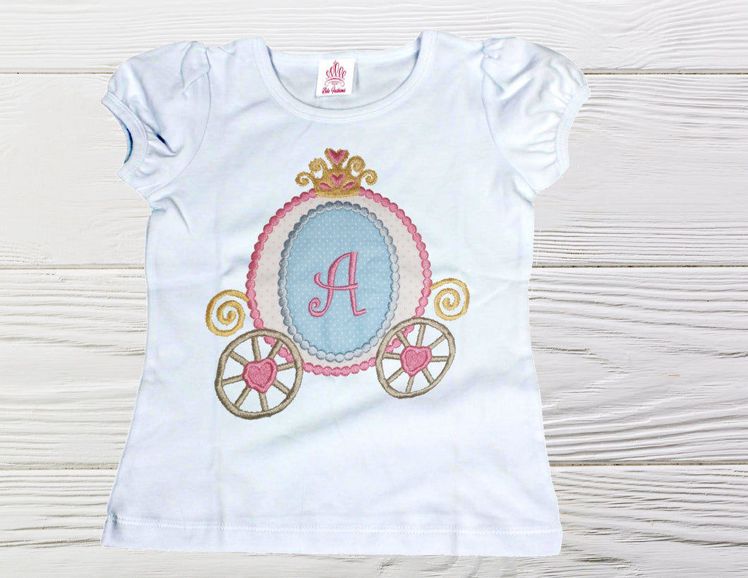 PERSONALIZED CARRIAGE SHIRT - Princess Carriage Birthday Shirt, Cinderella birthday shirt,  Princess party shirt,