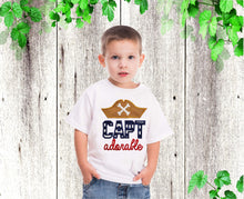 Load image into Gallery viewer, Pirate Boys shirt Cap Adorable pirate shirt  Boys birthday shirt