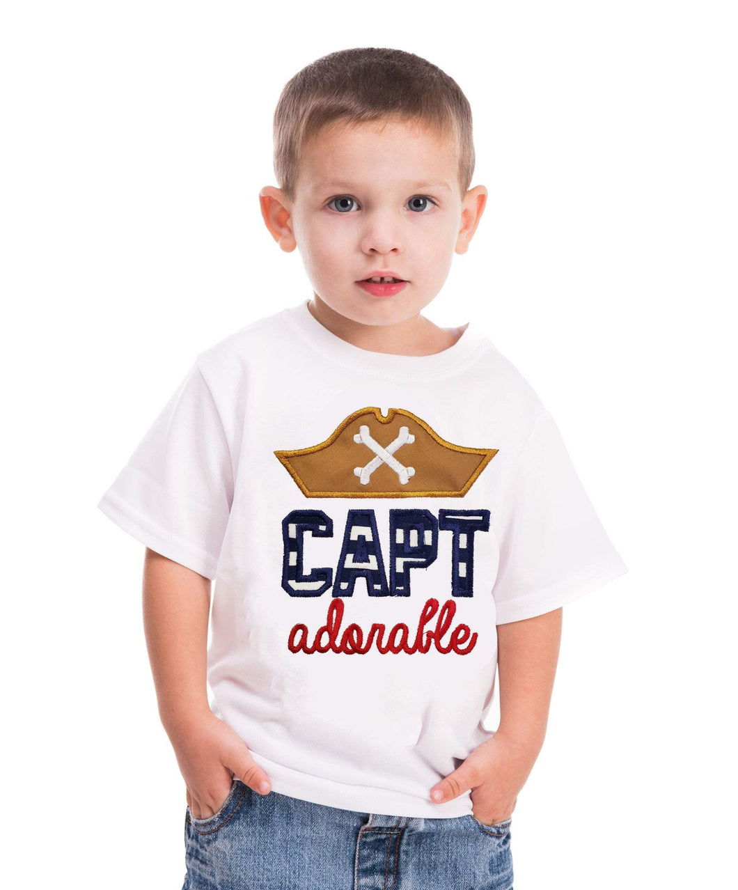 Pirate Boys shirt Cap Adorable pirate shirt  Boys birthday shirt