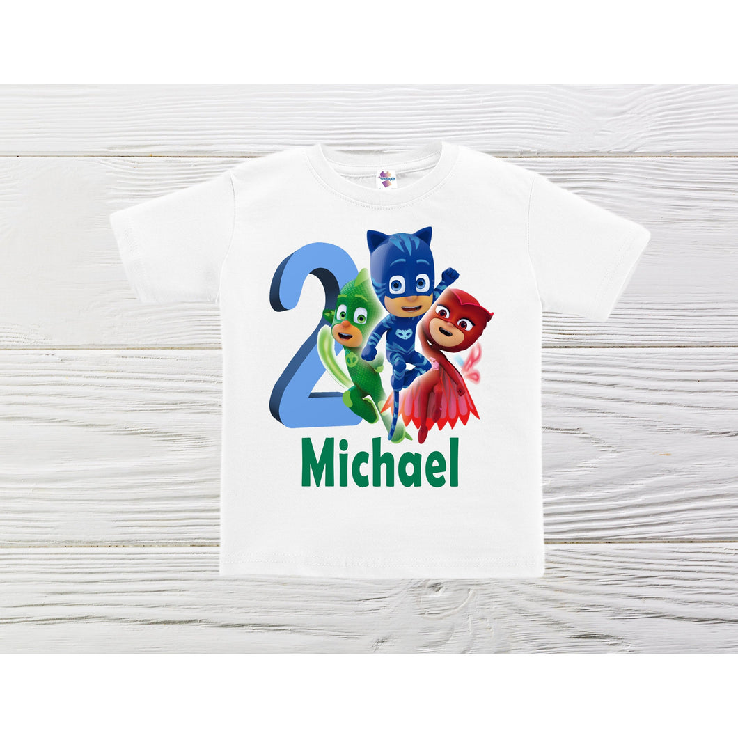 PJ Masks  boys shirts. PJ Masks personalized shirts. Boys PJ Mask custom shirts